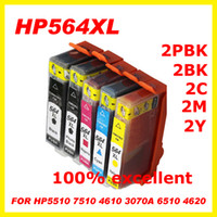 Wholesale set compatible ink cartridge for HP XL C5390 C6300 C6375 D5468 D5445 B8553 B209a B8550 C309a C5324 freeshipping