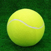 ball for exercise - Tranning Exercise Practice quot Oversize Durable Elastic Rubber Tennis Balls High Resilience Tennis Ball for Kids Pet Fun Y1574
