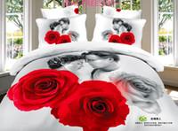 Wholesale DHL FREESHIP Home frozen bed sheets sets D pure cotton big print christmas wedding bedding sets Duvet cover Flat sheet pillow case J112501