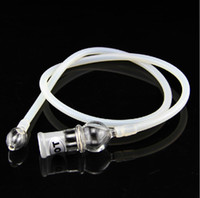 Wholesale 1pc Universal Glass Vaporizer Whip for Replacement snuff snorter vaporizer hose about inch long silicom pipe with glass parts