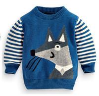 Spring / Autumn kids winter sweater - NEW kids NEXT Boy s sweaters children boy pullover FOX sweater autumn cotton A5