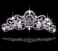 Cheap New Arrival Hair Accessories Korea Shining Wedding Bridal Crystal Veil Tiara Crown Headband Crown Wedding
