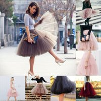 Wholesale Tutu Skirt Girls Petticoat A Line Mini Short Out Wear Princess Gown Soft Tulle Prom Dresses With Ruffle