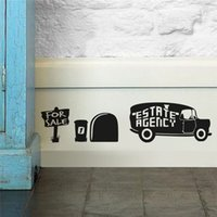 art estates - estate agency for sale mouse hole wall stickers room decoration diy vinyl home decal lovely animal mural art