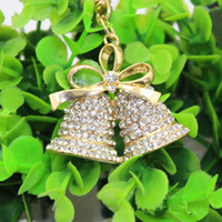 auto bell - 2015 The Best Selling Christmas Gifts Personality Auto Set Auger Bell Key Chain Creative Gift Lady s Bag Hanging