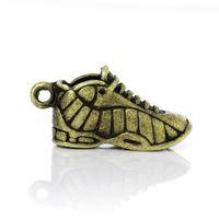 athlete sneaker - 2016 New Fashion New Retro Dull Bronze Tone Necklaces Pendants Women Athlete Sneaker XMAS Gift