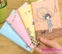 Wholesale NEW Lovely cartoon design A6 size Note book Dairy Book