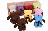 towel cake favors - New cm Snoopy style cake towel Dog style Wedding Birthday gift cake towels wedding favors baby shower favors gifts