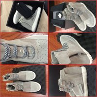 Wholesale Hot Sale Brand Man Yeezy Boost Shoes Made By Kanye West Sneakers Original Package Limited Edition Superstar Black Gray Mens Release