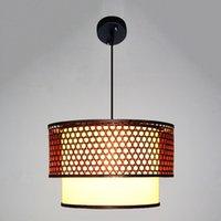 bamboo lampshade - Classic Chinese ART Decorative Pendant Light Bamboo PVC Lampshade DIY Droplight For Cafe Teahouse LED Retro Pendant Lamp Decors order lt no