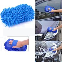 Wholesale Car Hand Soft Towel Microfiber Chenille Washing Gloves Coral Fleece Gloves Auto