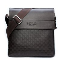 Wholesale 2015 New collection fashion men bags polo handbag men casual leather squares messenger high quality man brand small crossbody