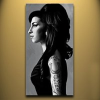 amy winehouse - High quality Hand painted Portraits Oil Painting Wall Decor Art On Canvas AMY WINEHOUSE x48inch Unframed