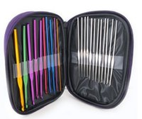 Wholesale 22pcs set Mixed Metal Hook Crochet Needles Set Template Kit For Loom Tool Band DIY