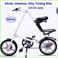 Wholesale 2015 Strida Folding Bike STRIDA inch Aluminum Alloy Folding Bike Black White Gold Sliver Red Five Colors Road Folding Bikes None Spoke