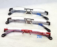 Wholesale High Quality Alloy Optical Frameless Glasses Hollow Out Frame Prescription Spectable Rimless Eyeglasses