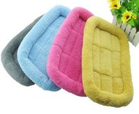 Wholesale Small Medium Large Dog Pet Cat Woolen Bed Waterproof Non slip Bottom Puppy Bed Care Animals Colors