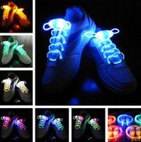 Cheap LED Flashing shoe laces Fiber Optic Shoelace Luminous Shoe Laces Light Up Shoes lace in stock