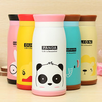 best thermos flasks - Best Promotion ml Lovely Cute Animal Cartoon Stainless Steel Vacuum Flasks Thermoses Insulated Mug Warm Water Cup
