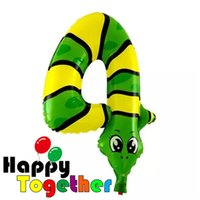 aluminium foil manufacturers - 50 Selling Cute Animal Snake Shape quot Number Foil Helium Balloon All Age Birthday Party Decoration Happy Together Manufacturer