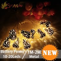 patio - 10 led Battery Operation led string LED Metal Drip String Lights Patio Wedding Party Christmas lights Bedroom Holiday Decoration