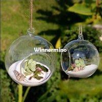 Wholesale 1510 Modern Hanging Clear Round Crystal Glass Vase Flower Balls Terrarium Vases For Wedding Decoration Dia cm