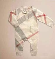 Wholesale winter newborn clothes baby HOt sell baby romper Knitted garments bodysuits infant YCF10