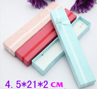 Wholesale New Arrival Necklace Packaging Gift Box Paper Jewelry Packing Boxes Case Red Purple Pink Blue Color Available