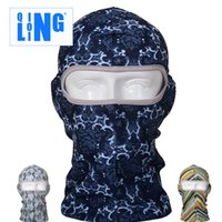 bib hood - Top Quality Thin Outdoor Cycling Ski Balaclava Neck Hood Full Face Mask Hat Beanie Animal Outdoor Sport Cycling Cool Mask