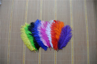 Wholesale per inch OSTRICH FEATHERS plume White Yellow and Turquoise royal blue black orange ivory hot pink light pink red