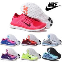women rubber flat shoes - Nike Free Flyknit Women s Running Shoes Original Walking Shoes Lightweight Jogging Shoes Weaving Sport Shoes Outdoor Free Ship