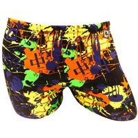 Cheap Wholesale-TE Deamrkt Sexy Men Swim Shorts Boxer Swimming Trunks Beach Trunks ,Boys Swimming Underwear High Quality