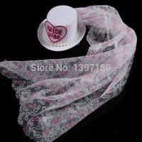 bachelorette party tops - Sexy Bridal mini top hat on clips with veil Glitter willy printing wedding accessories Bachelorette Party Hens night favors order lt no trac