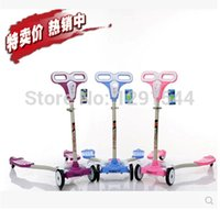 four wheel electric scooter - Frog scooter breast stroke Steel Folding skateboard slide foot kick board four Flashy Wheel Height Adjustment Electric Unicycle