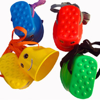 Wholesale 2015 new Kids Children Smiley Face Stomper Stepping Walking Stilts Games Sensory Integration Balance Training