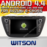 1080p mp4 player - WITSON Android Car DVD Player DIN GPS Bluetooth Car DVD Player for SUZUKI S CROSS P HD Video Hot Sale A9656X