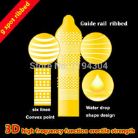 Wholesale pieces Hot sex products D spike condom funny penis sleeve condoms for men silicon camisinha sex toys
