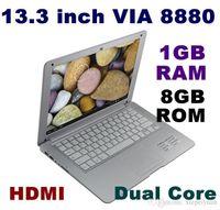 Wholesale 2PCS inch Dual Core Slim Mini Laptop Android VIA Cortex A9 GHZ HDMI WIFI G G Mini Netbook Educational Q88 A23 SW3