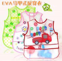 yellow towels - Infant saliva towels Baby EVA plastic Waterproof bibs apron for Y baby kids animal print pinafore LD143