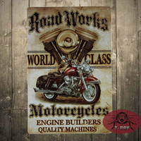 antique motorcycle works - quot Road Works quot Motorcycle Vintage Retro Tin Sign Gas Oil Rat Rod Street Rod