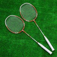 Wholesale Durable Glass Fiber Frame Training Recreation Badminton Racquet Racket with Carry Bag Ball Sports High Elasticity