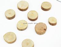 achat en gros de décoration d'arbre en bois-300pcs mini-20mm-30mm Bois cercle perles rondes en bois, des tranches d'arbre décor rustique, style Country, décors de mariage, Médailles artisanat