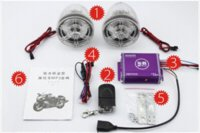 Wholesale New waterproof motorcycle speakers Motor Anti theft protection MP3 player Scooter Alarm audio system M10571