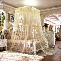 Cheap Wholesale Upscale Canopy mosquito net Square lace curtain mosquito netting for universal 1.5m 1.8m 2m bed