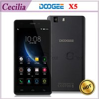 Wholesale Original DOOGEE X5 MT6580 Quad Core Android Cell Phone inch D HD G G MP Camera G GPS OTG