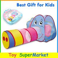 Cheap Elephant Tent with Tunnel Kids Play Tent Cartoon Beach Lawn Tent Ball Pool Play House Tent for Children Outdoor Sport Infant Toy