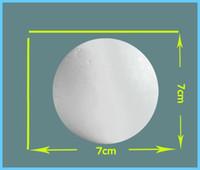 venda por atacado bolas de isopor-Atacado-12pcs 7cm Modelagem poliestireno isopor espuma bola Sphere XMAS Decoração do ofício