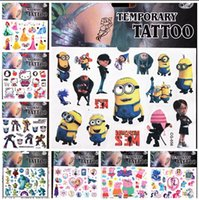 Wholesale Big Hero Baymax Stickers Cartoon Minecraft Frozen Minions spidermanTemporary Tattoos Sticker Body Tatoo For Children NO A