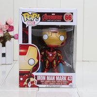 Wholesale 4 quot CM POP Avengers Iron Man Mark PVC Action Figure Collection Toy Doll in box