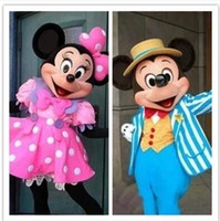Wholesale Fast wedding Minnie Mickey Mascot Costume Mouse Costumes Adult Character Costume party Fancy Dress